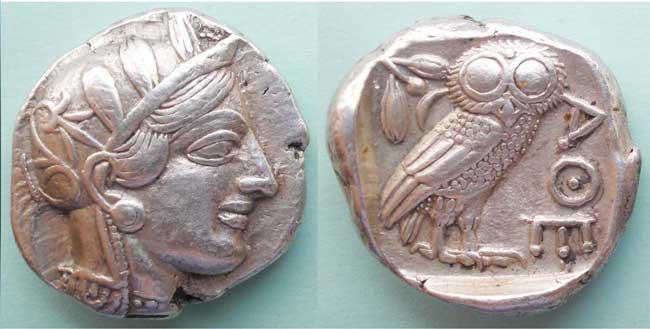 Афинская монета