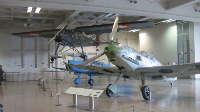 Экспозиция, посвященная истории авиации