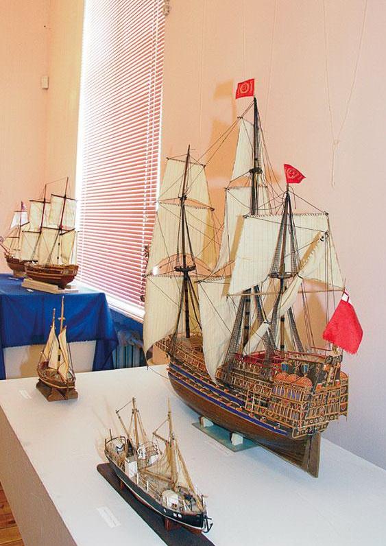 Экспозиция, посвященная истории флота