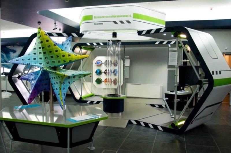 Внешний вид экспозиции выполнен в виде космической станции