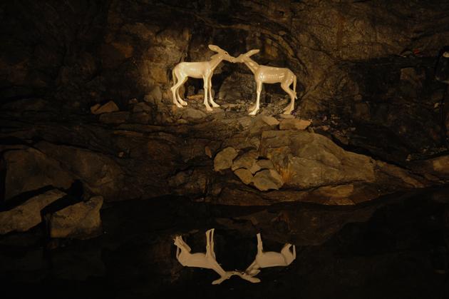 Экспозиция в пещерах