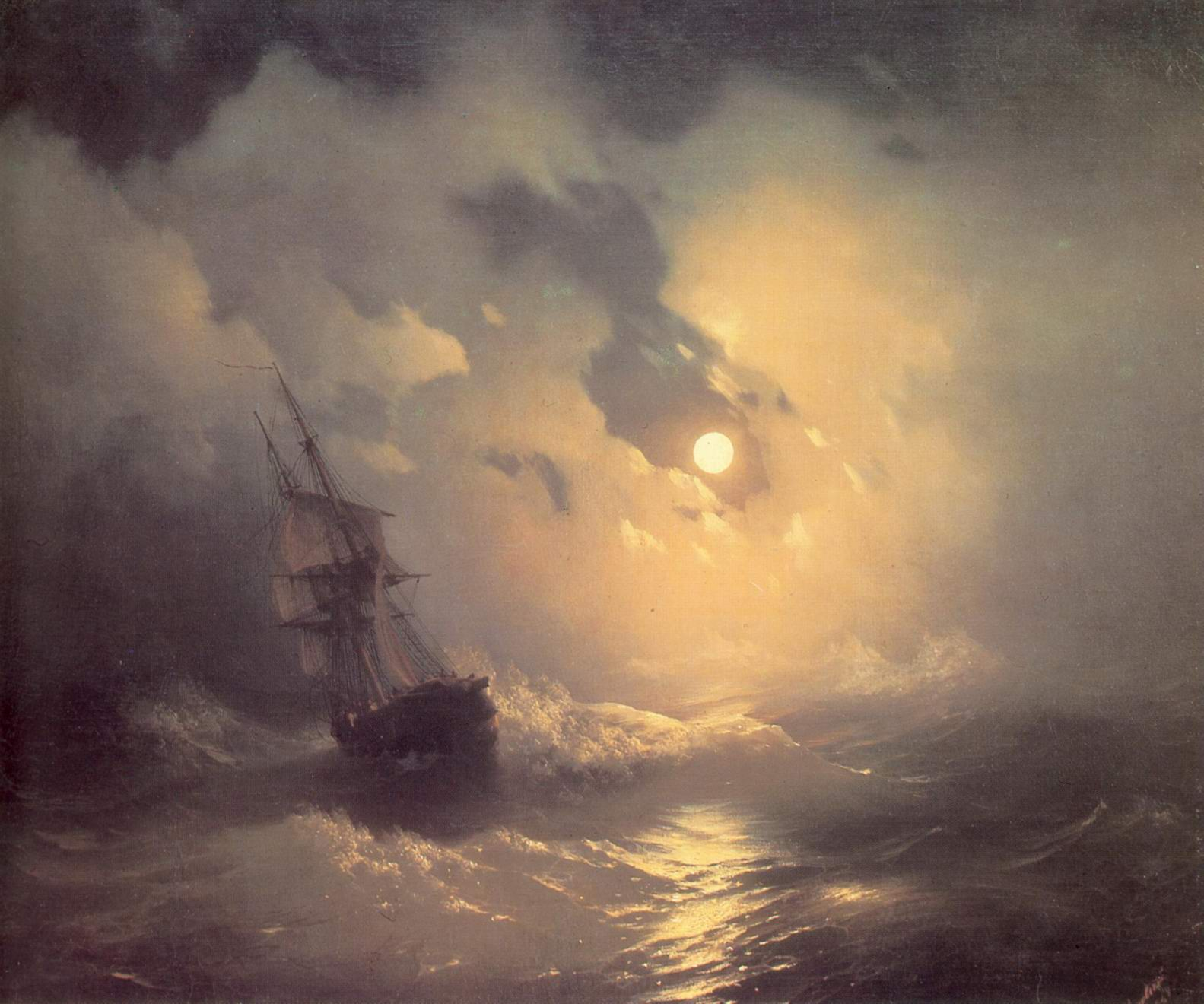 Буря на море ночью, Айвазовский Иван Константинович