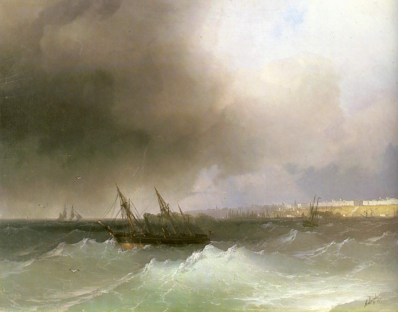 Вид Одессы с моря, Айвазовский Иван Константинович