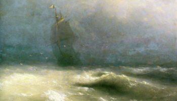 Буря у берегов Ниццы