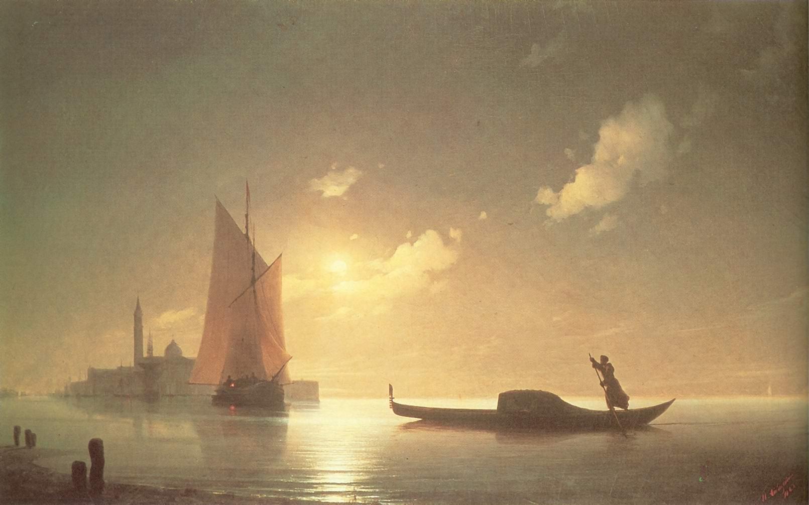 Гондольер на море ночью, Айвазовский Иван Константинович
