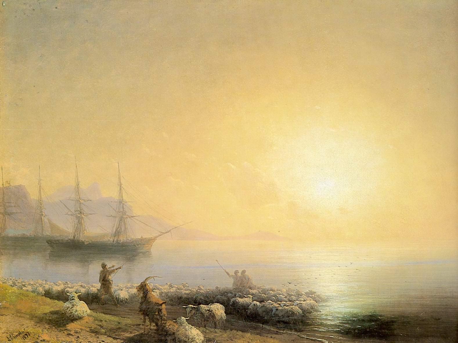 Купанье овец, Айвазовский Иван Константинович