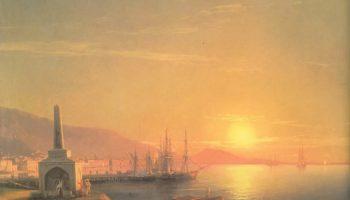 Восход солнца в Феодосии