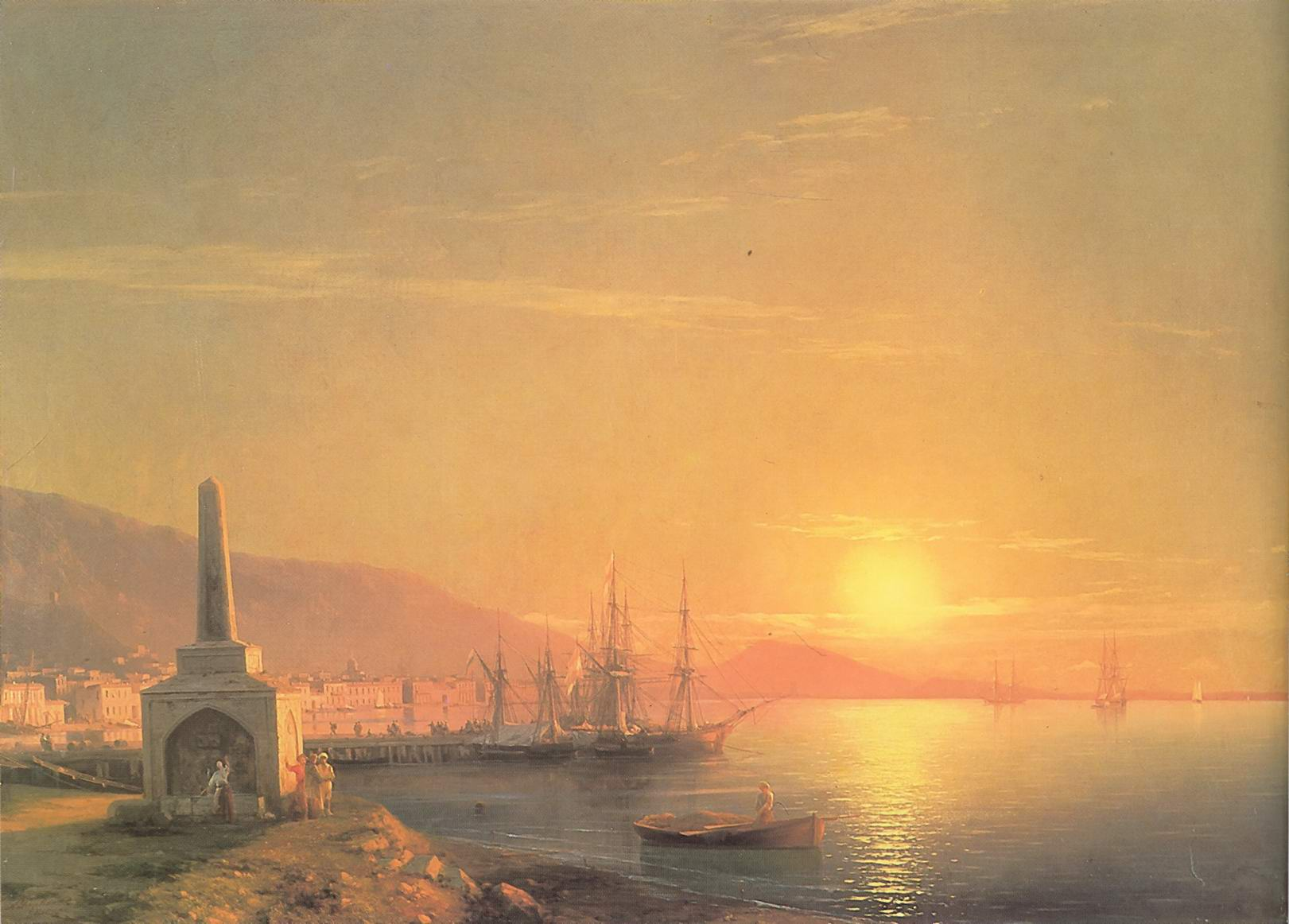 Восход солнца в Феодосии, Айвазовский Иван Константинович