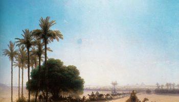 Караван в оазисе. Египет