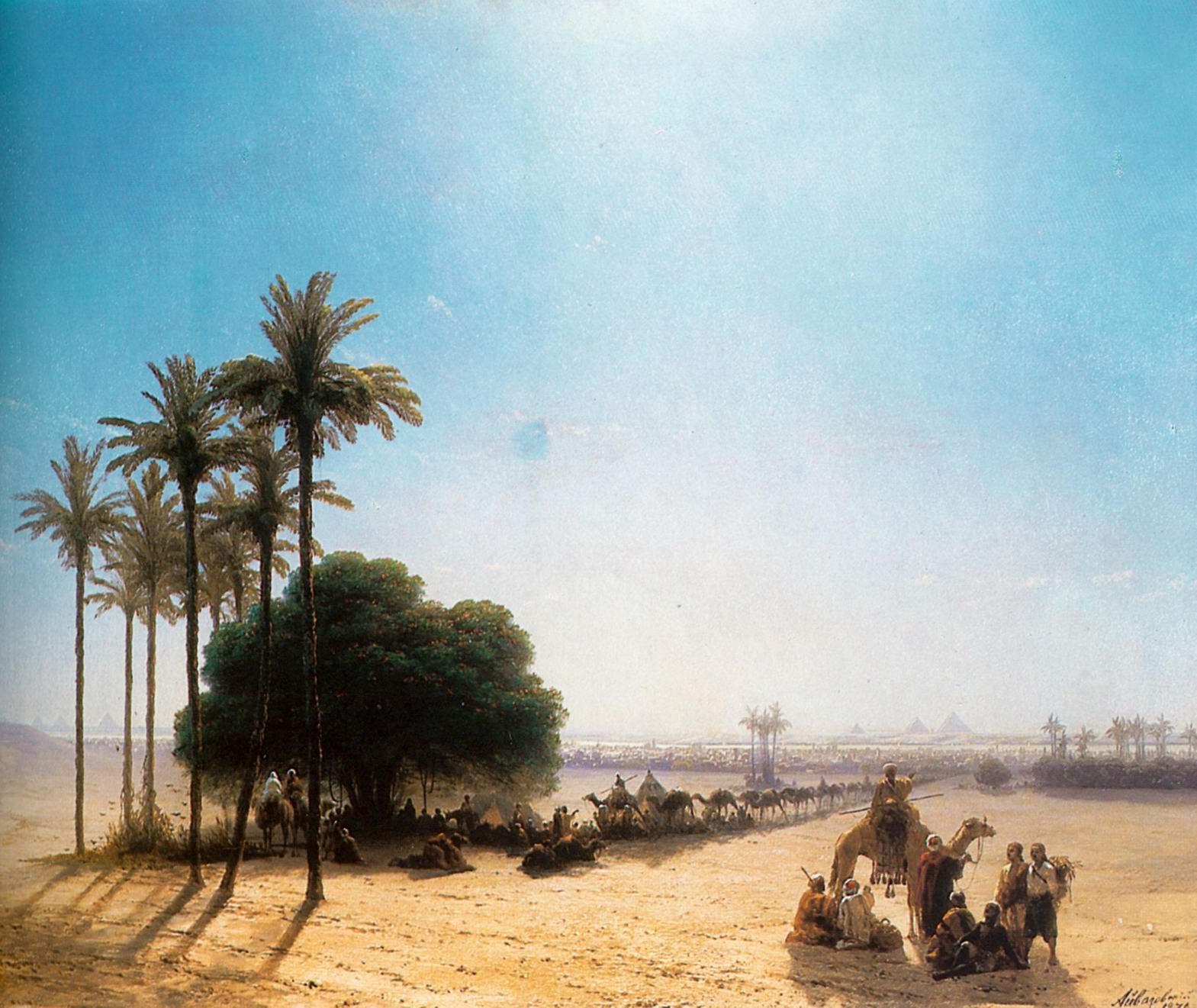 Караван в оазисе. Египет, Айвазовский Иван Константинович