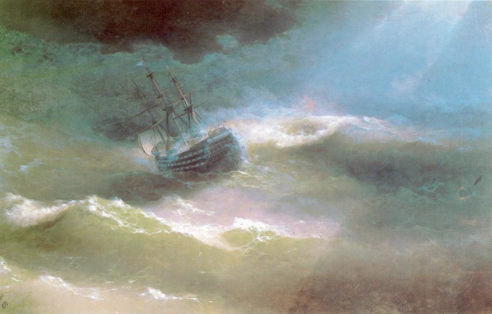 Корабль Мария во время шторма, Айвазовский Иван Константинович