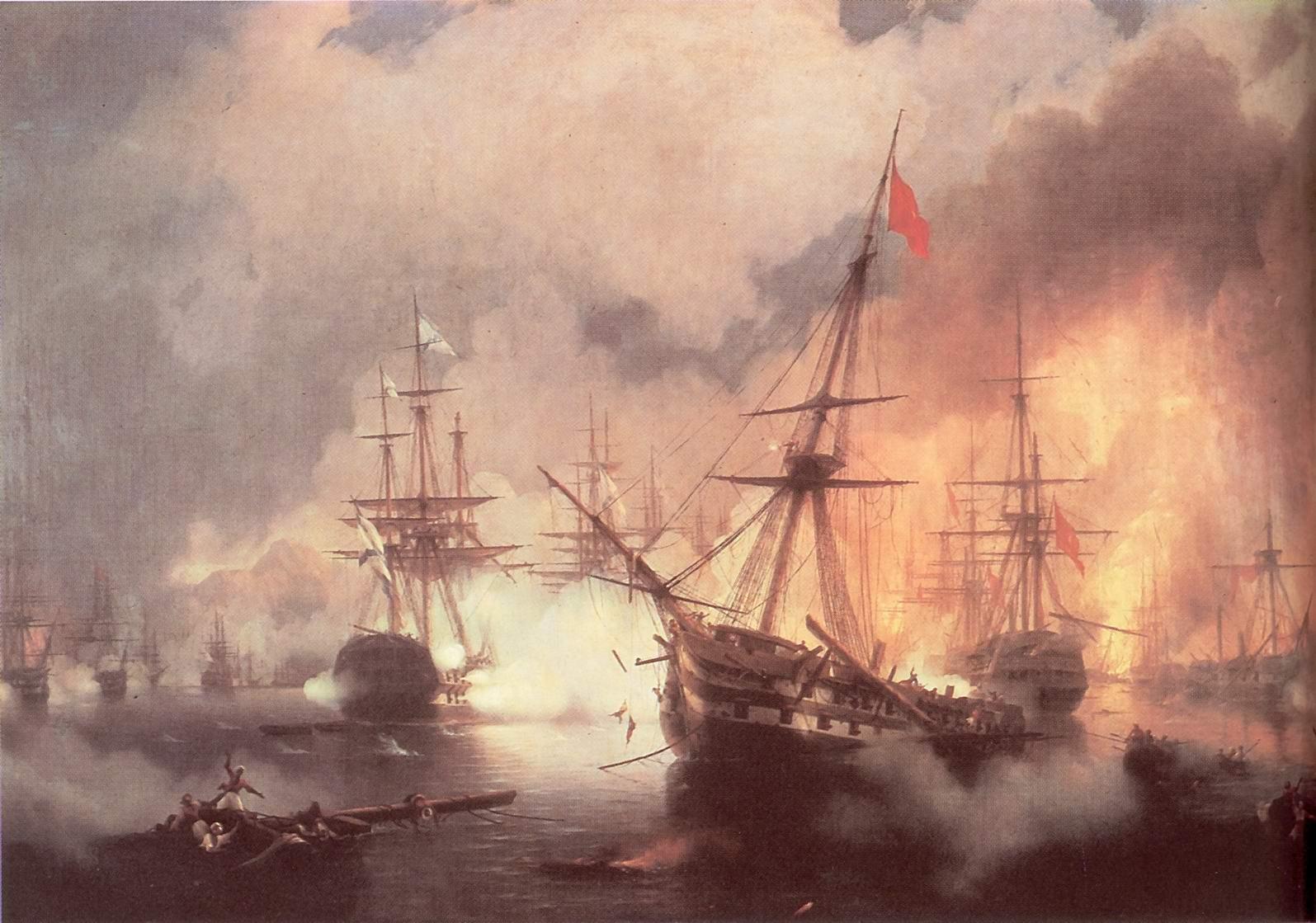 Морское сражение при Наварине (2 октября 1827), Айвазовский Иван Константинович