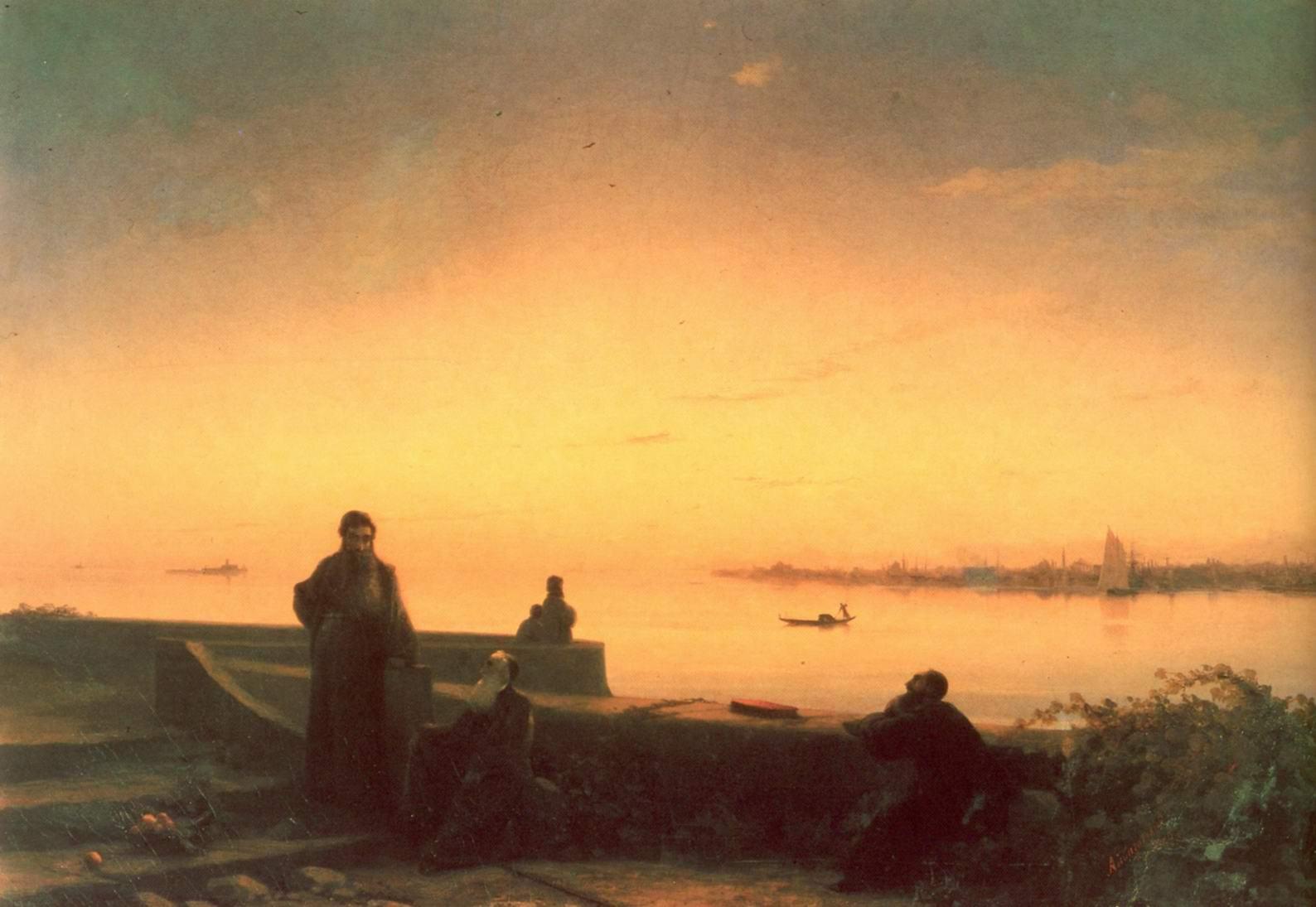Мхитаристы на острове св. Лазаря, Айвазовский Иван Константинович