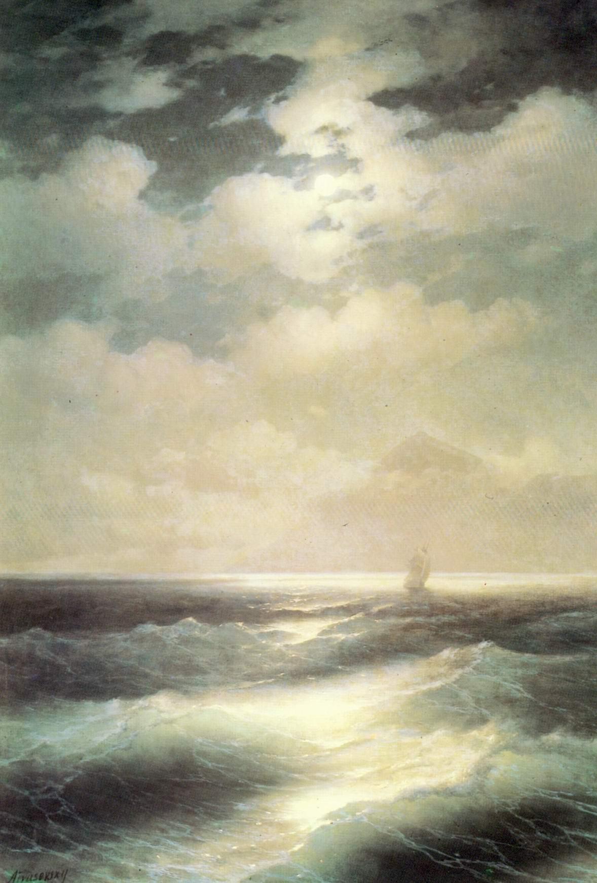 Морской вид при луне, Айвазовский Иван Константинович