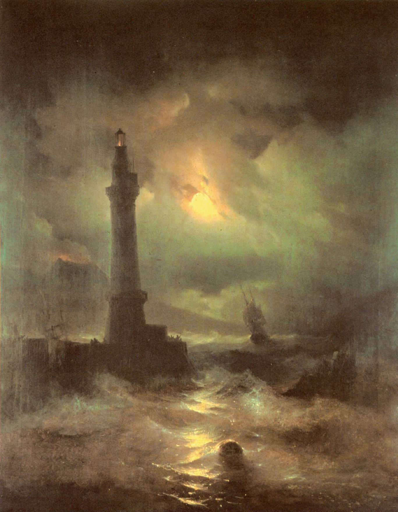 Неаполитанский маяк, Айвазовский Иван Константинович