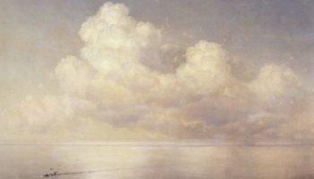Облака над морем, штиль