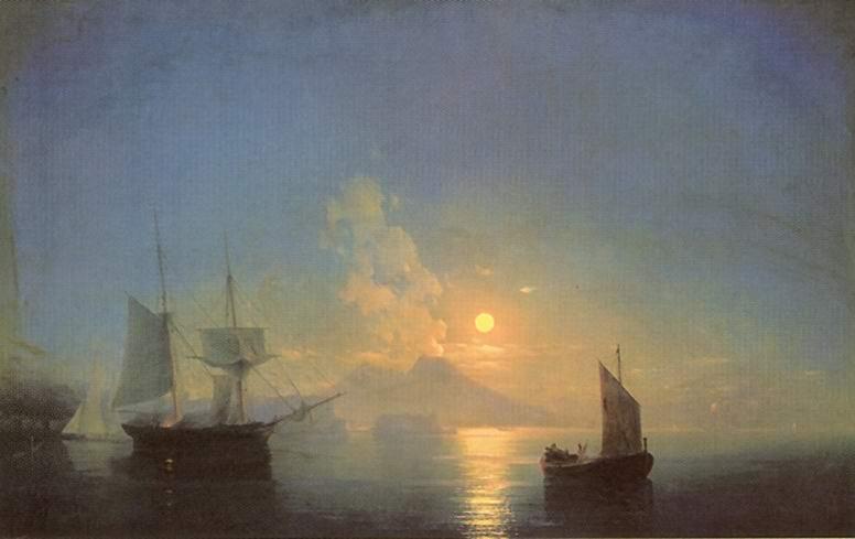 Неаполитанский залив в лунную ночь, Айвазовский Иван Константинович