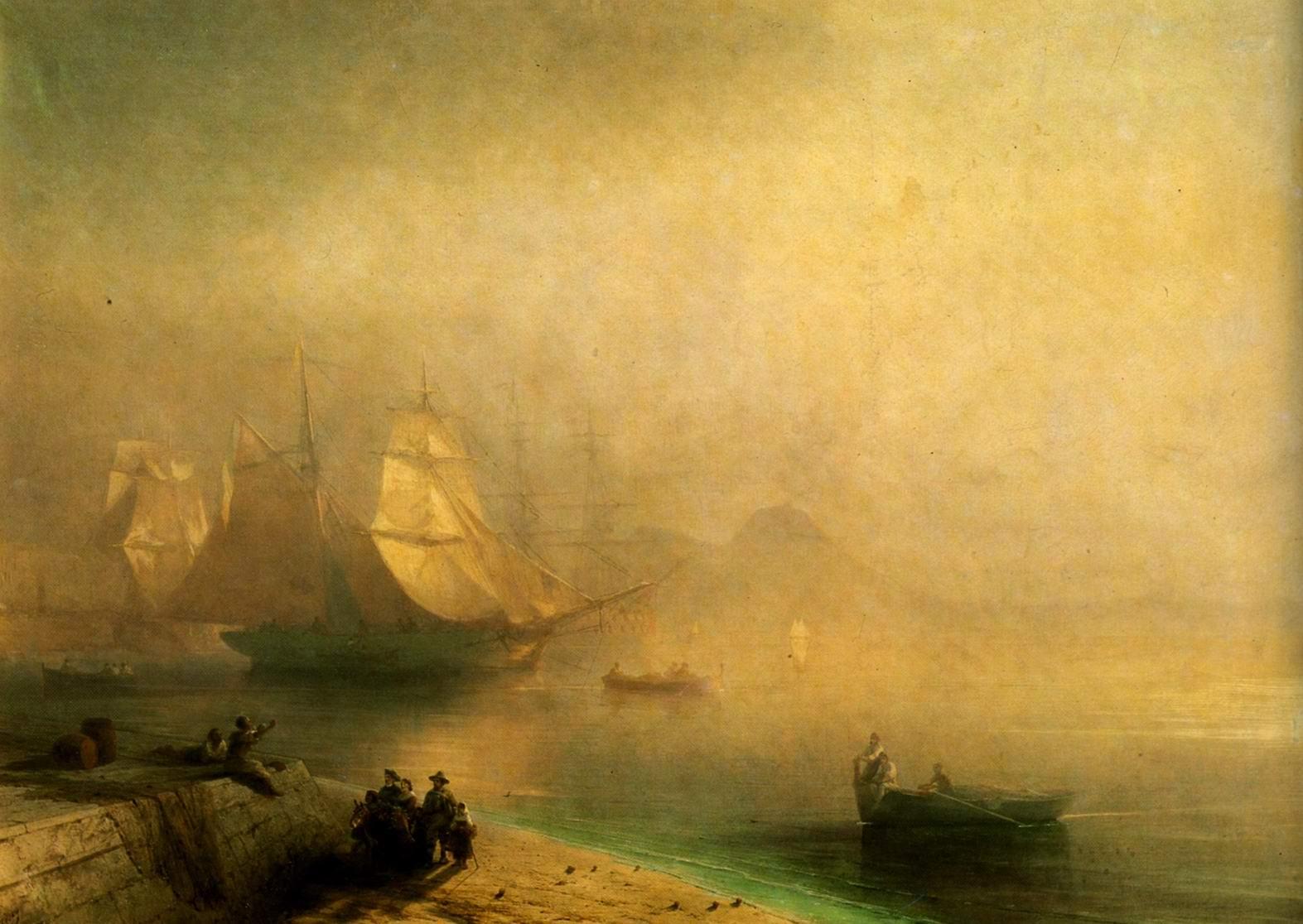 Неаполитанский залив в туманное утро, Айвазовский Иван Константинович