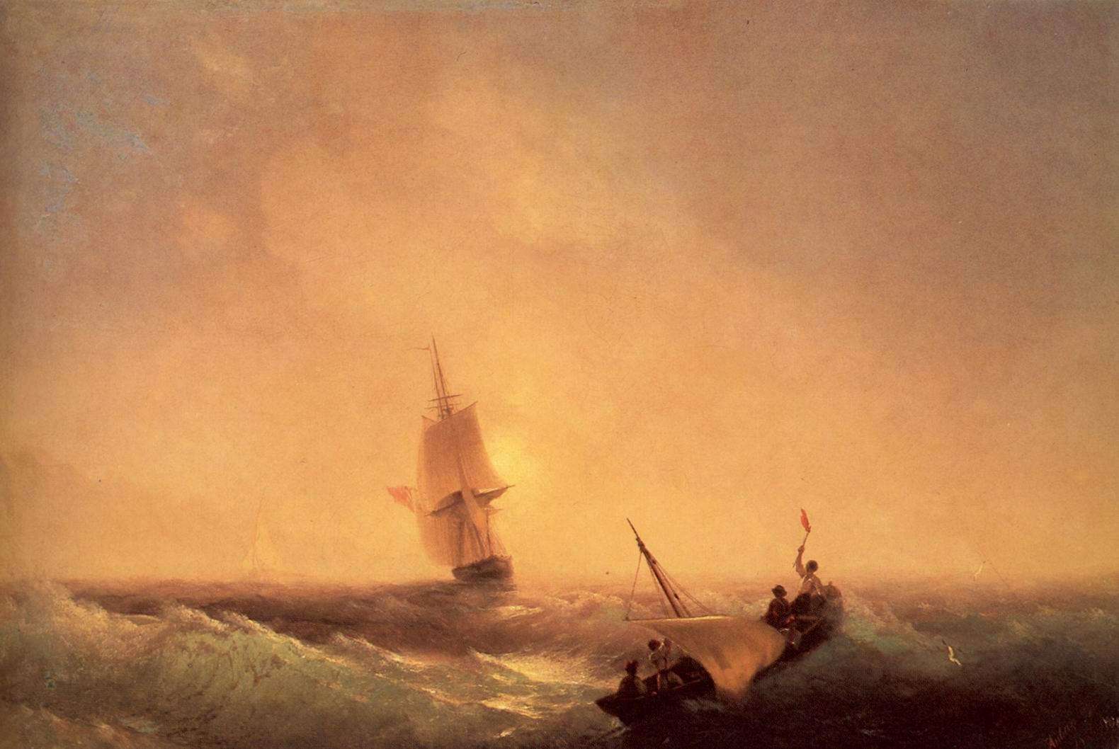 Спасающиеся от кораблекрушения, Айвазовский Иван Константинович