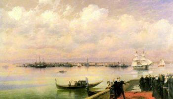 Посещение Байроном мхитаристов на острове св. Лазаря в Венеции