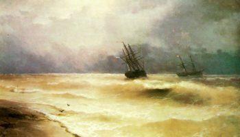 Прибой у крымских берегов