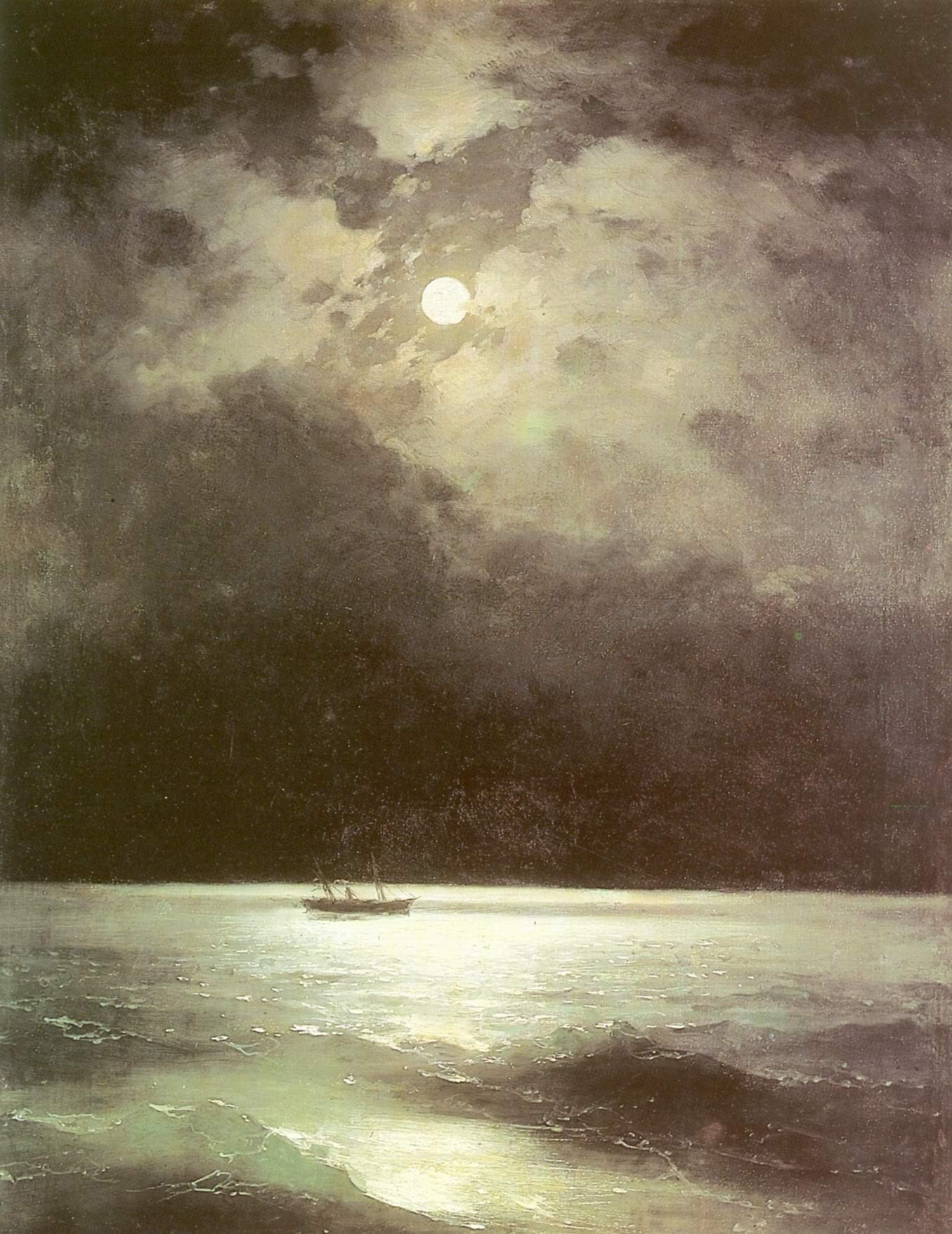 Черное море ночью, Айвазовский Иван Константинович
