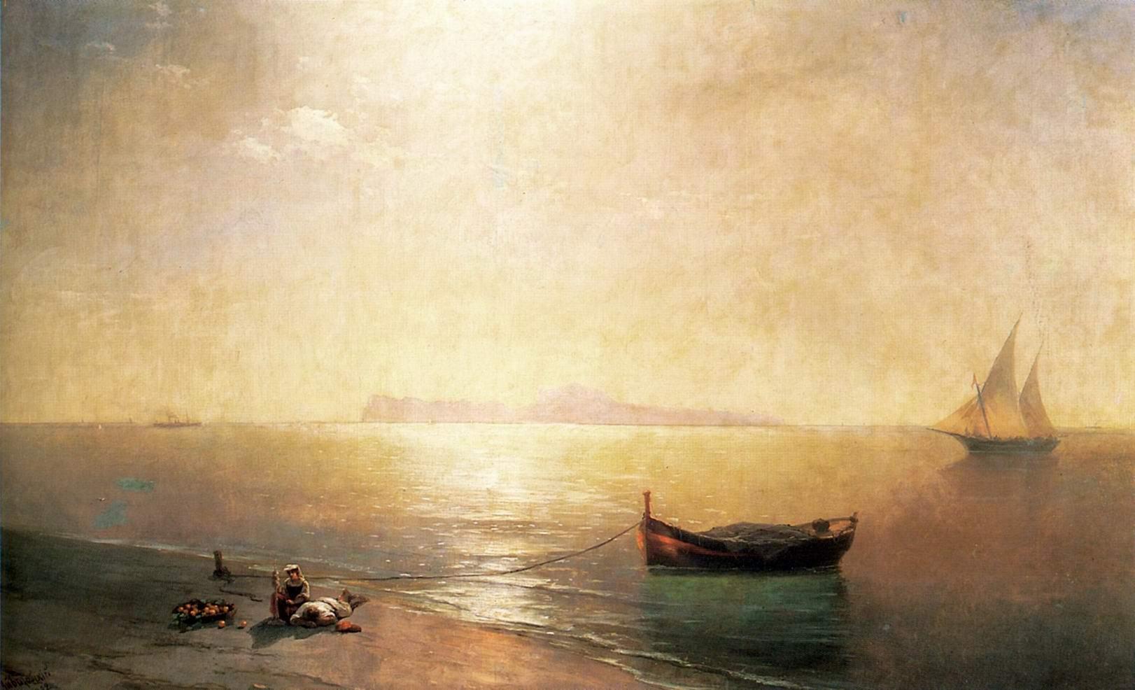 Штиль на Средиземном море, Айвазовский Иван Константинович