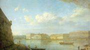 Вид Дворцовой набережной от Петропавловской крепости