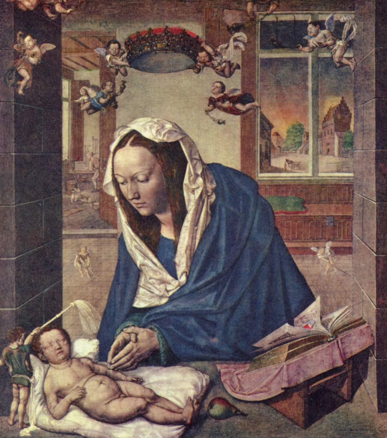 Алтарь Девы Марии, центральное изображение, Мария с младенцем, Альбрехт Дюрер