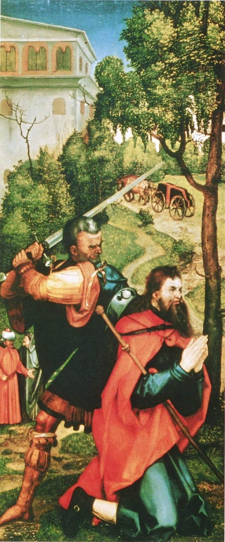 Алтарь Геллера, внутренняя сторона левой створки. Мученичество св. Иакова, Альбрехт Дюрер