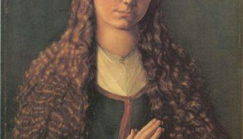 Портрет молодой Фурлан Эгер с распущенными волосами