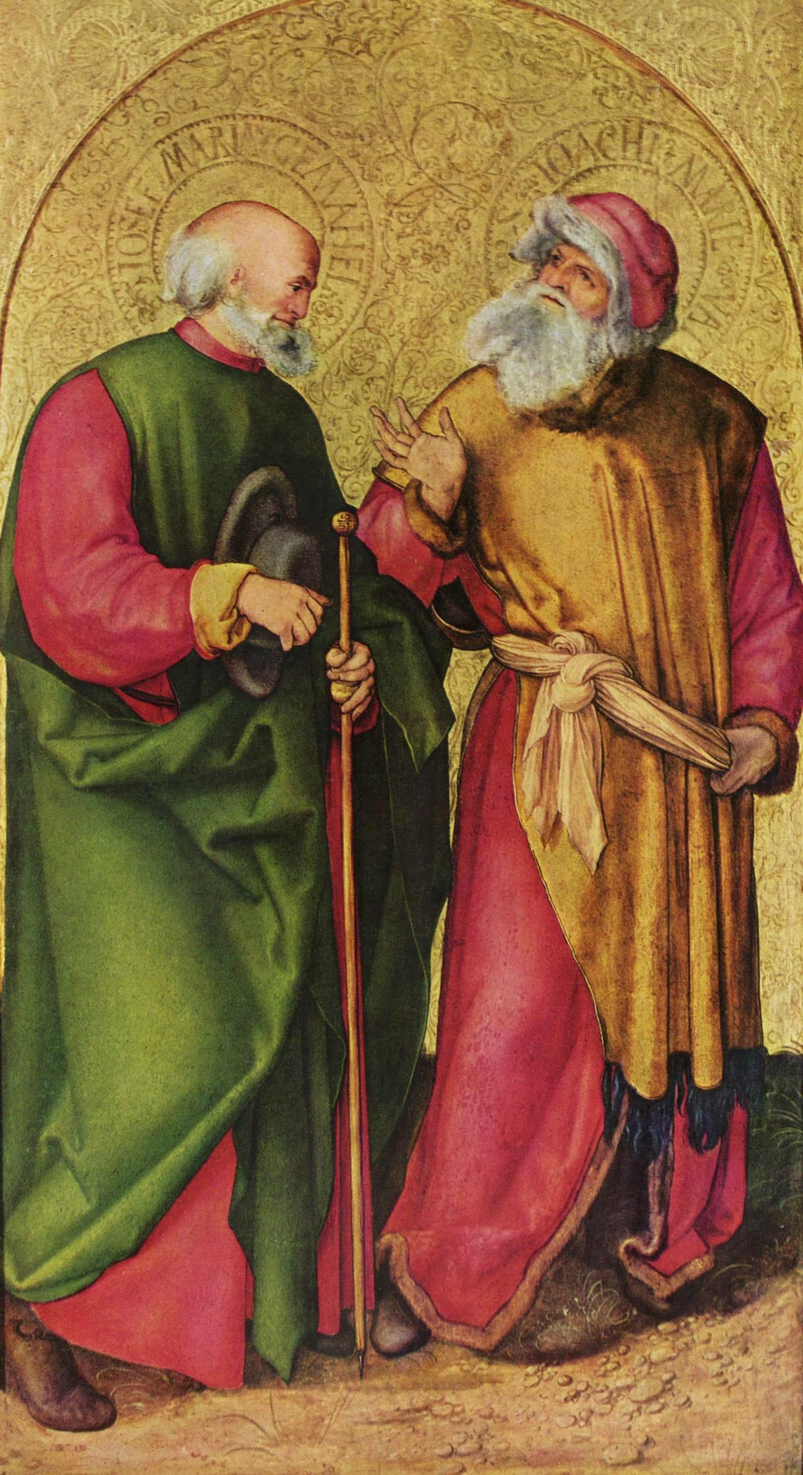 Алтарь трех волхвов, левая створка, Иосиф и Иоахим, Альбрехт Дюрер