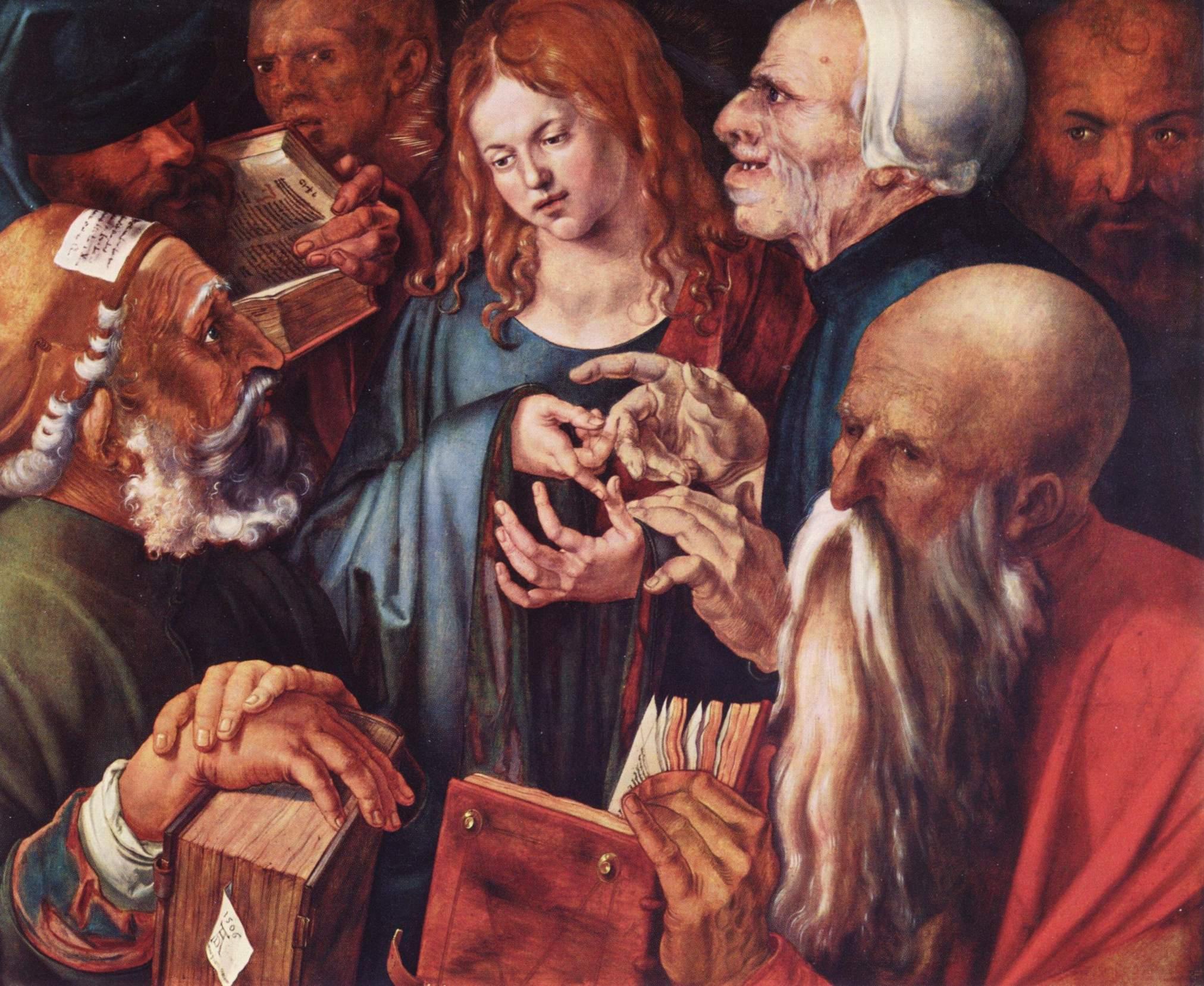 Двенадцатилетний Христос среди книжников, Альбрехт Дюрер