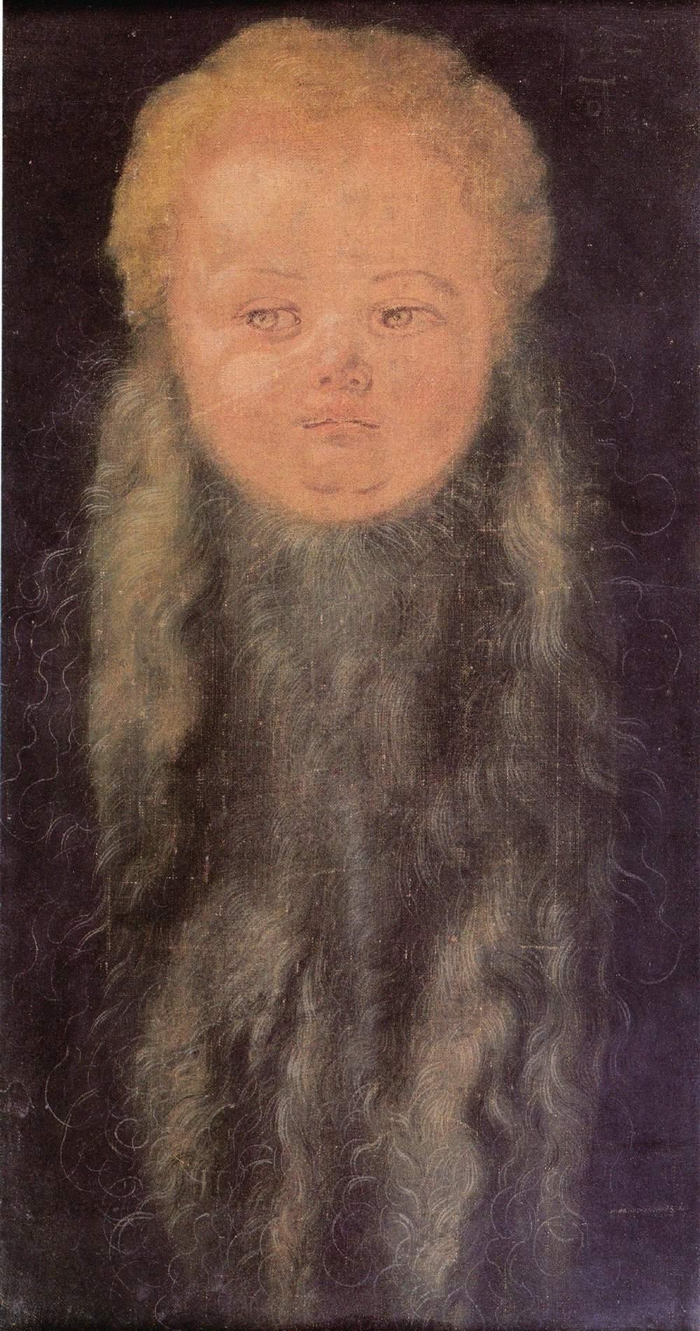 Голова бородатого младенца, Альбрехт Дюрер