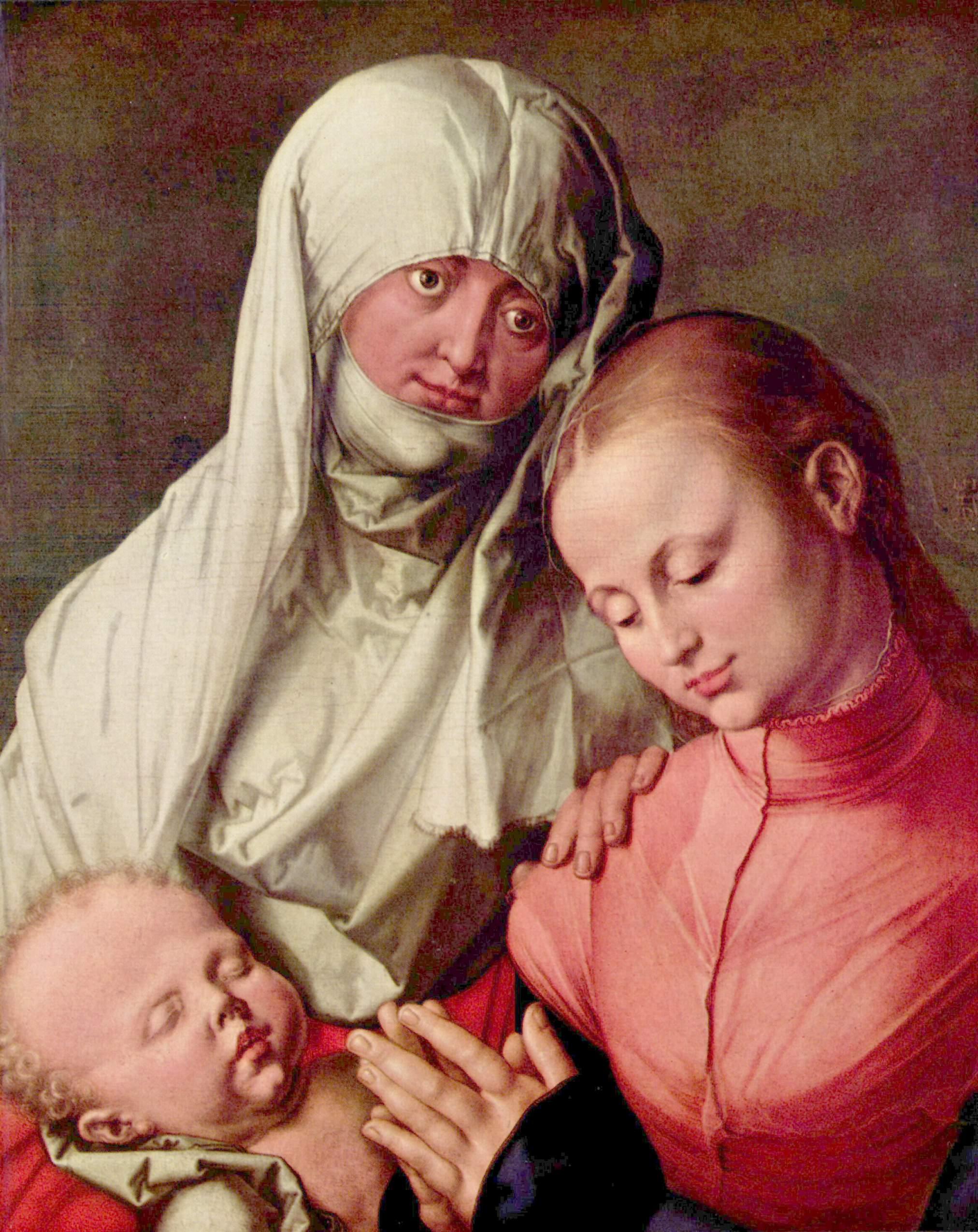 Дева Мария с младенцем и св. Анной, Альбрехт Дюрер