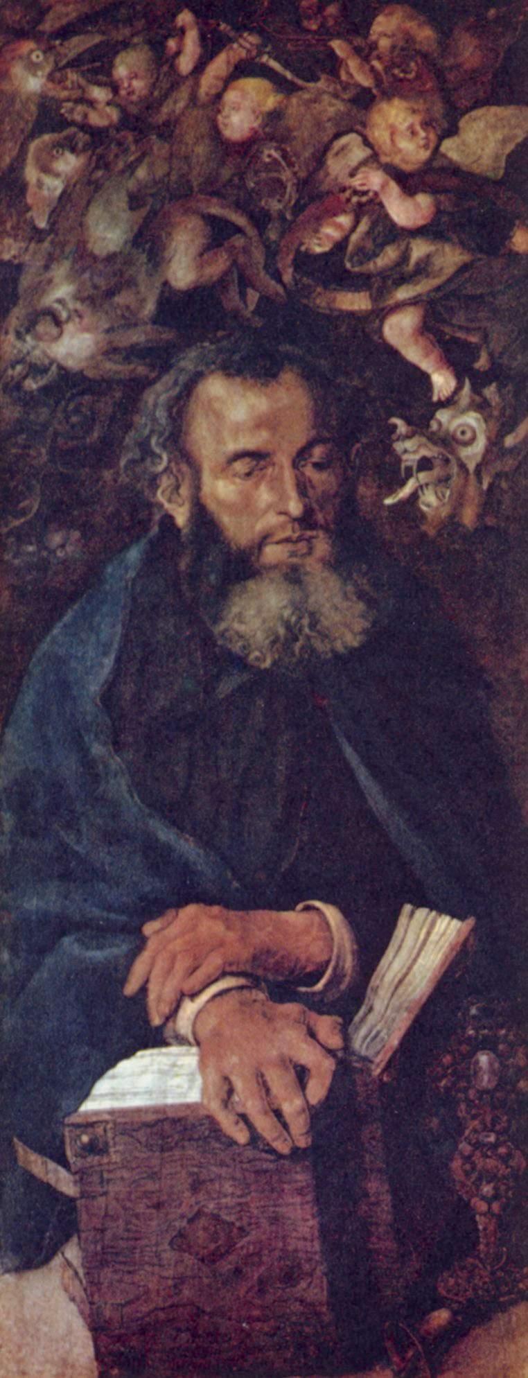 Дрезденский алтарь, левая боковая створка, св. Антоний, Альбрехт Дюрер