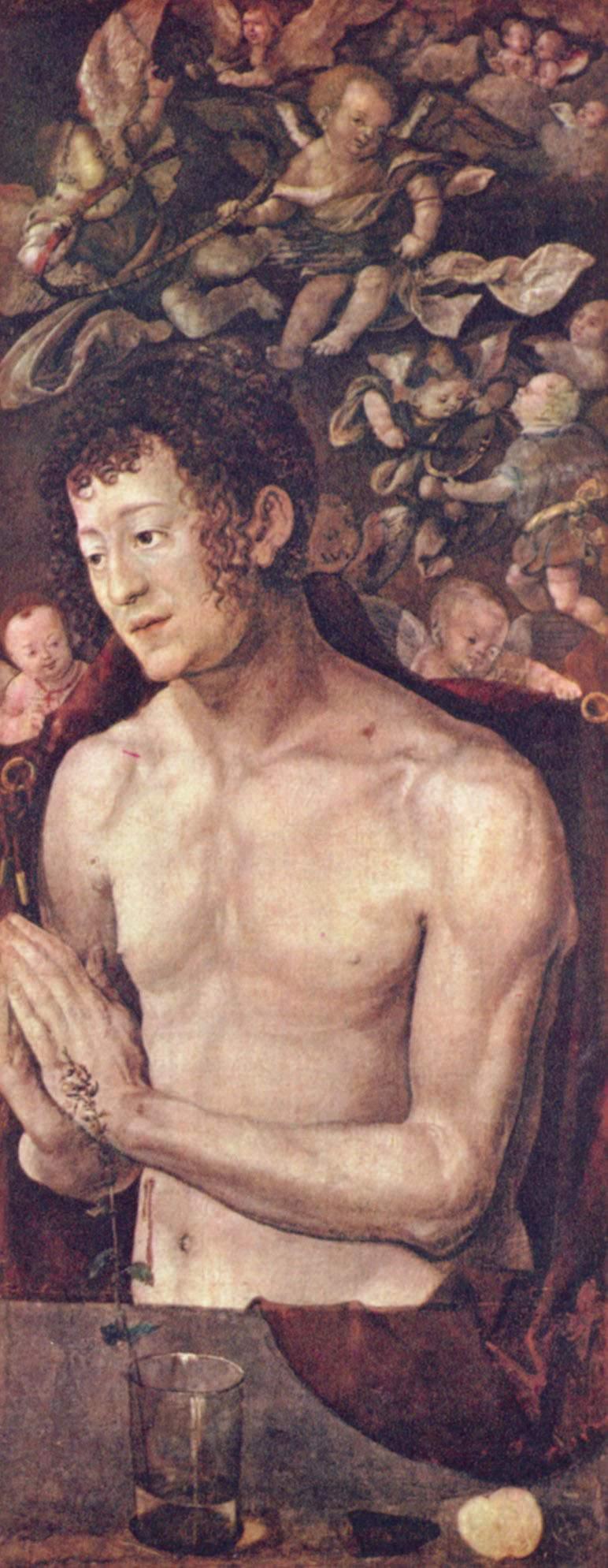 Дрезденский алтарь, правая боковая створка, св.Себастьян, Альбрехт Дюрер