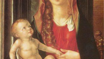Мария с младенцем перед аркой ворот