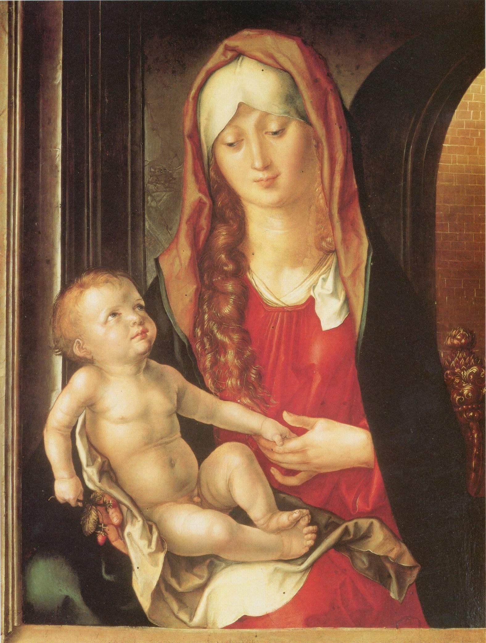 Мария с младенцем перед аркой ворот, Альбрехт Дюрер