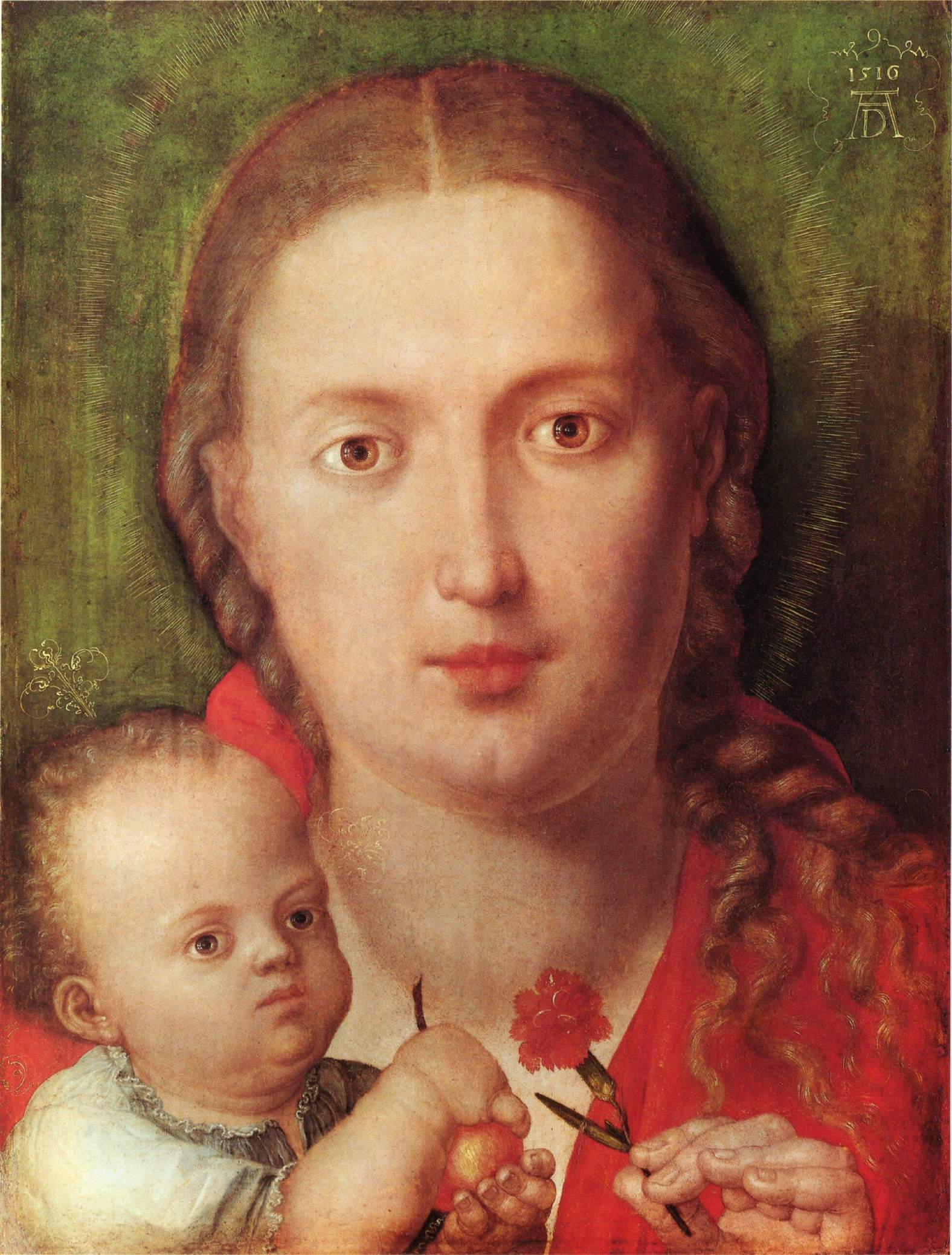 Мария с гвоздикой, Альбрехт Дюрер