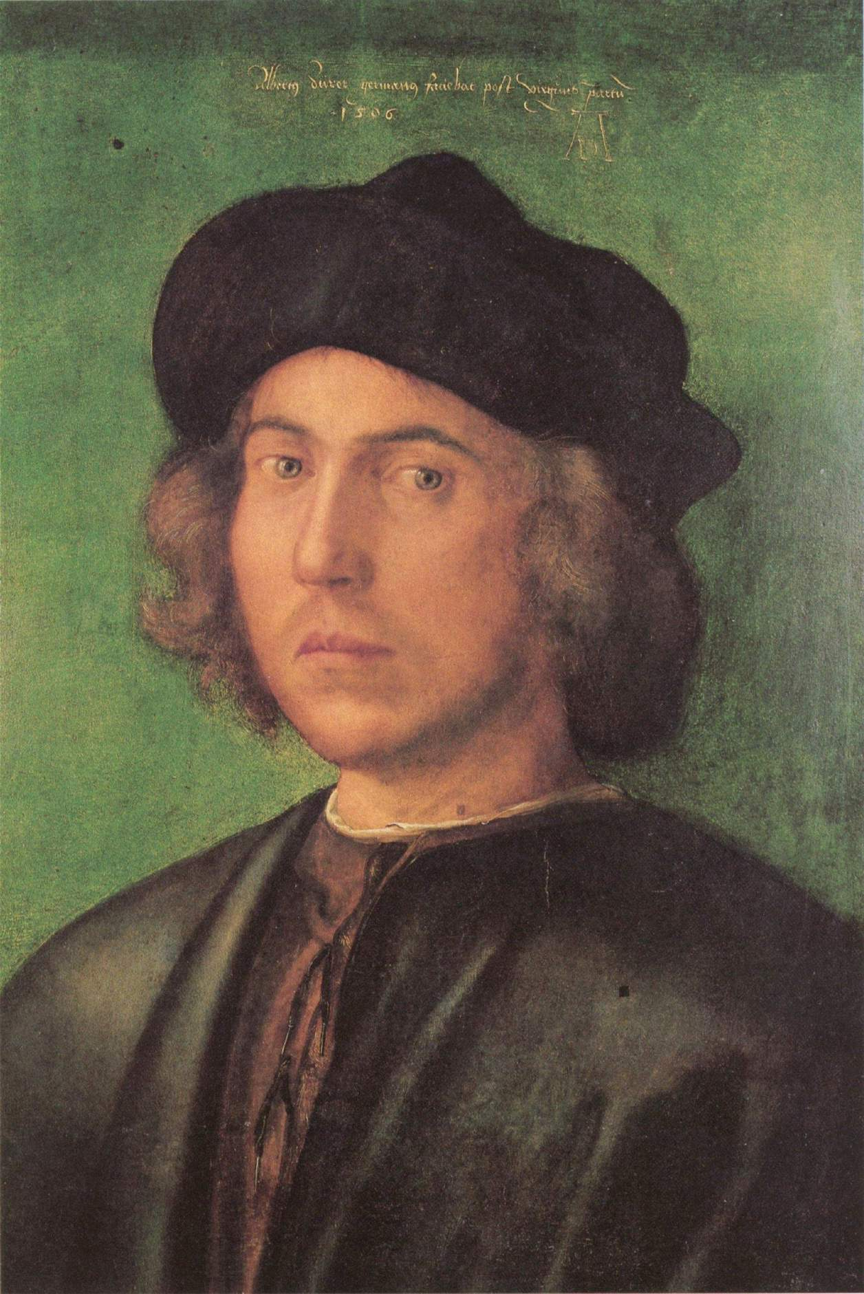Портрет молодого человека на зелёном фоне, Альбрехт Дюрер