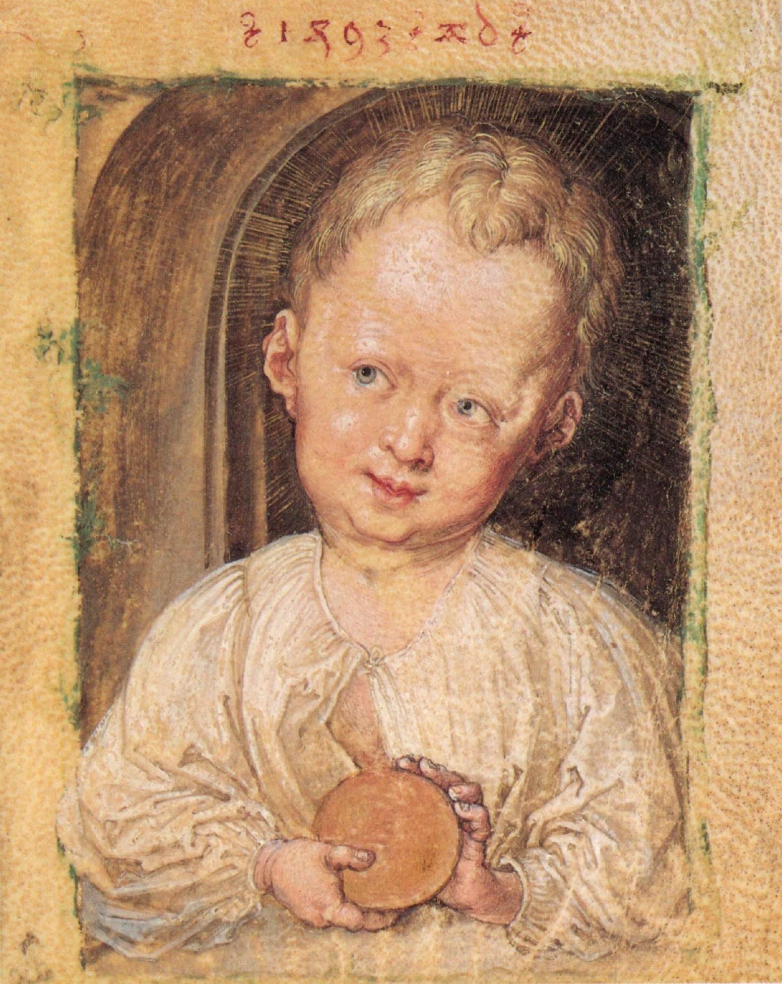 Ребенок Иисус с гостией, Альбрехт Дюрер