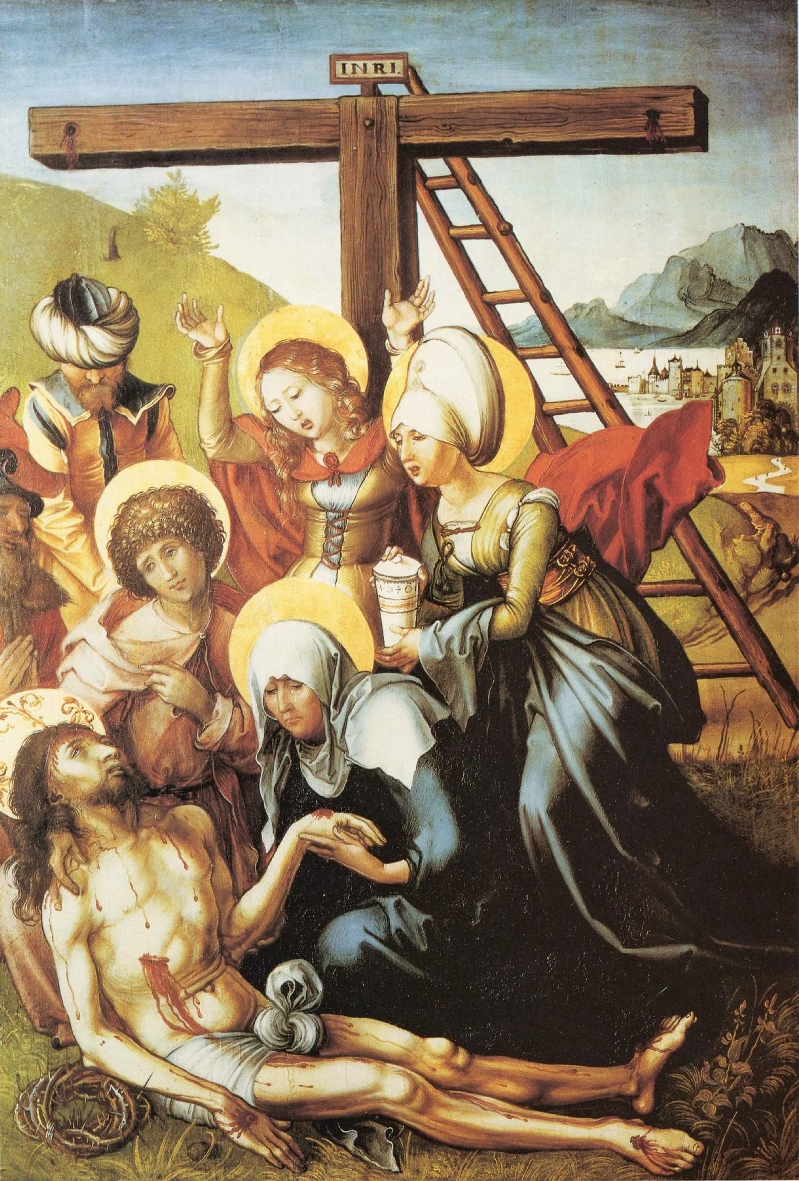 Семь скорбей Марии, центральная часть, Оплакивание Христа, Альбрехт Дюрер