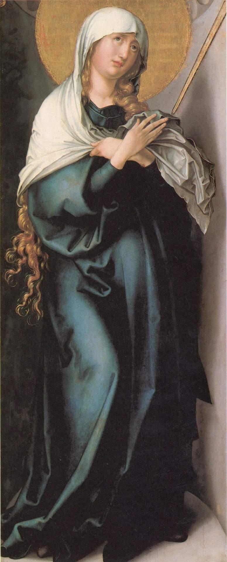 Семь скорбей Марии, центральная часть, Скорбящая мать, Альбрехт Дюрер