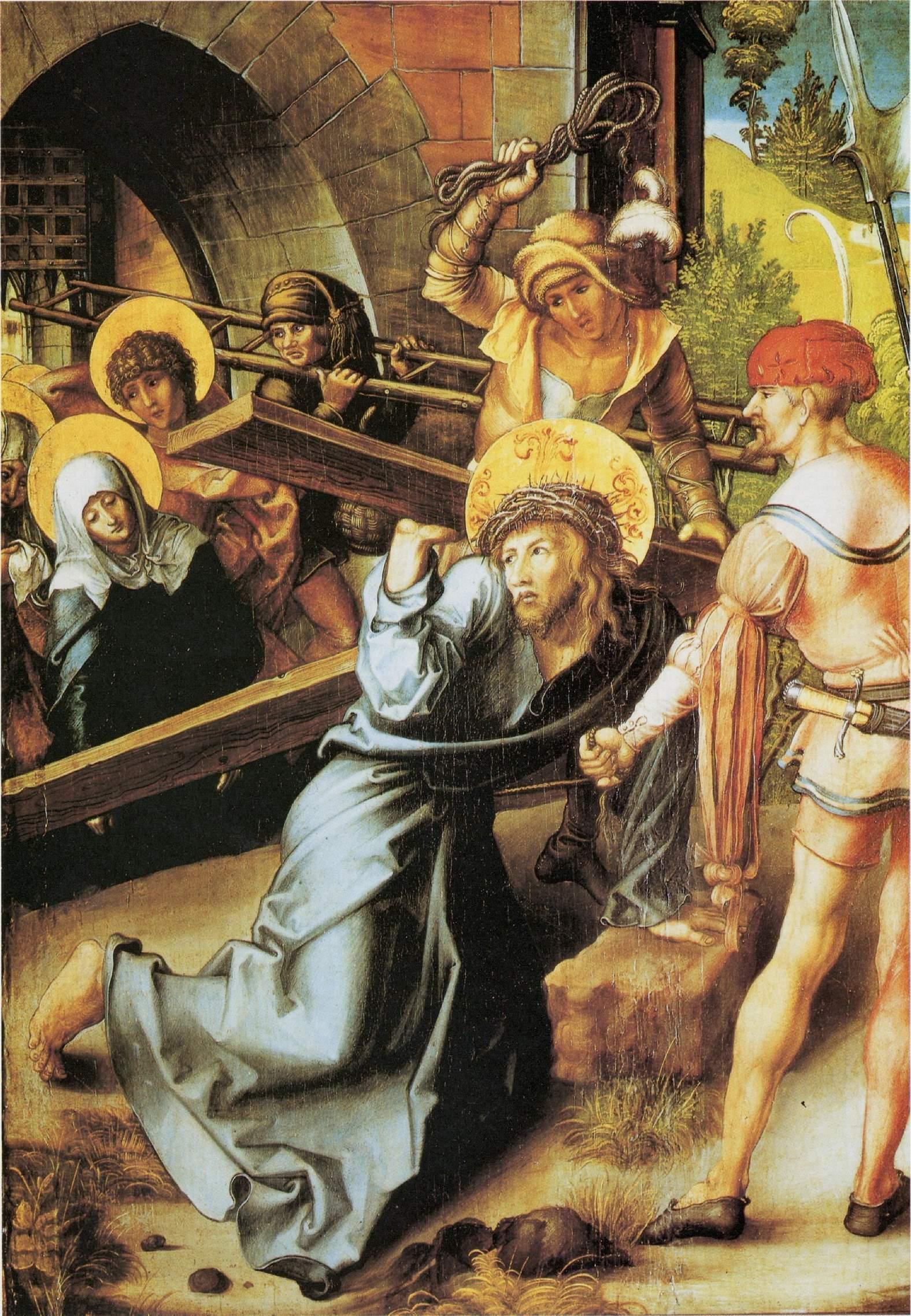 Семь скорбей Марии, центральная часть, Несение креста, Альбрехт Дюрер