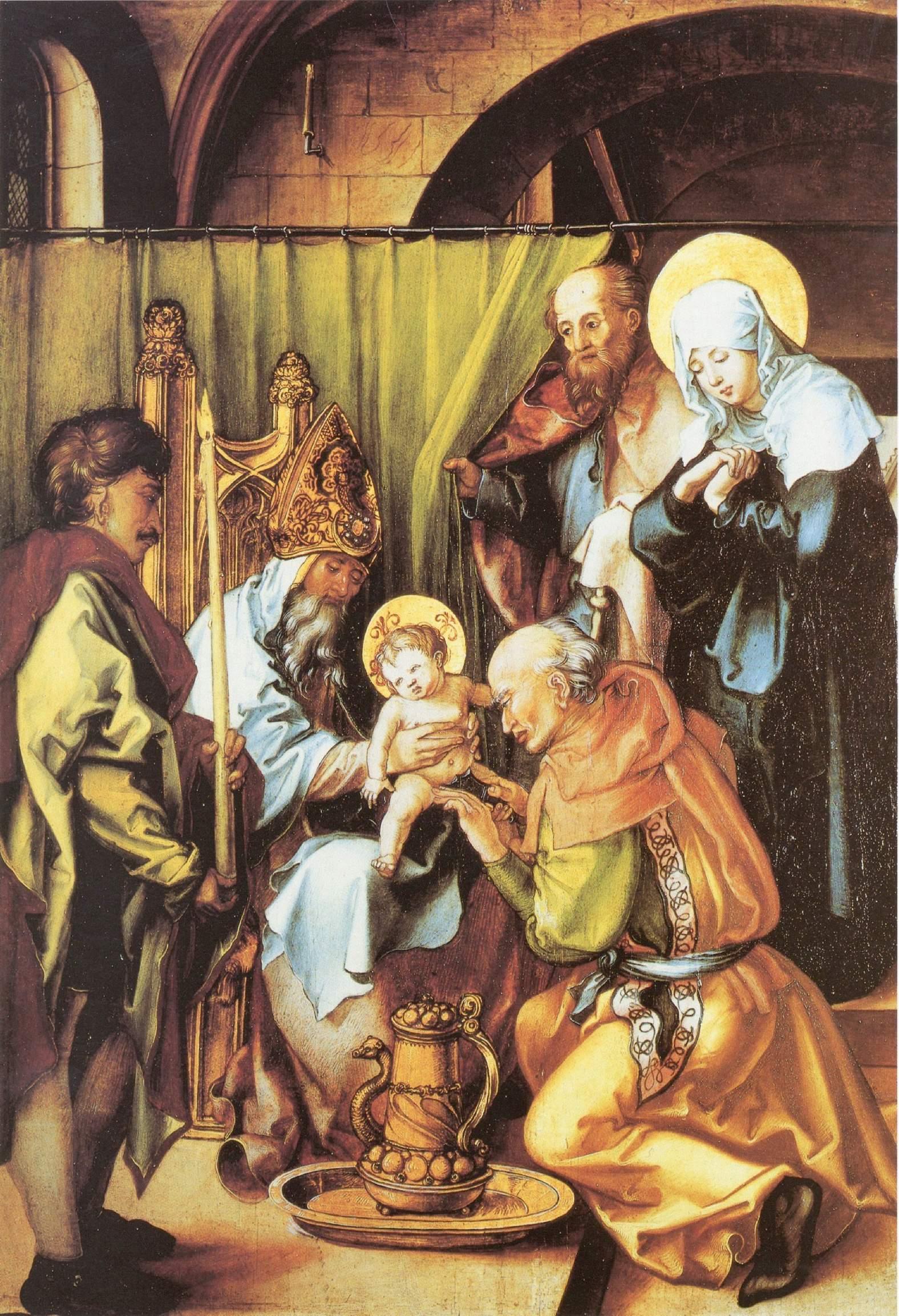 Семь скорбей Марии, центральная часть, Обрезание Христа, Альбрехт Дюрер