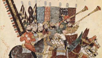 Харири, группа всадников в ожидании праздничного шествия (седьмой макам)