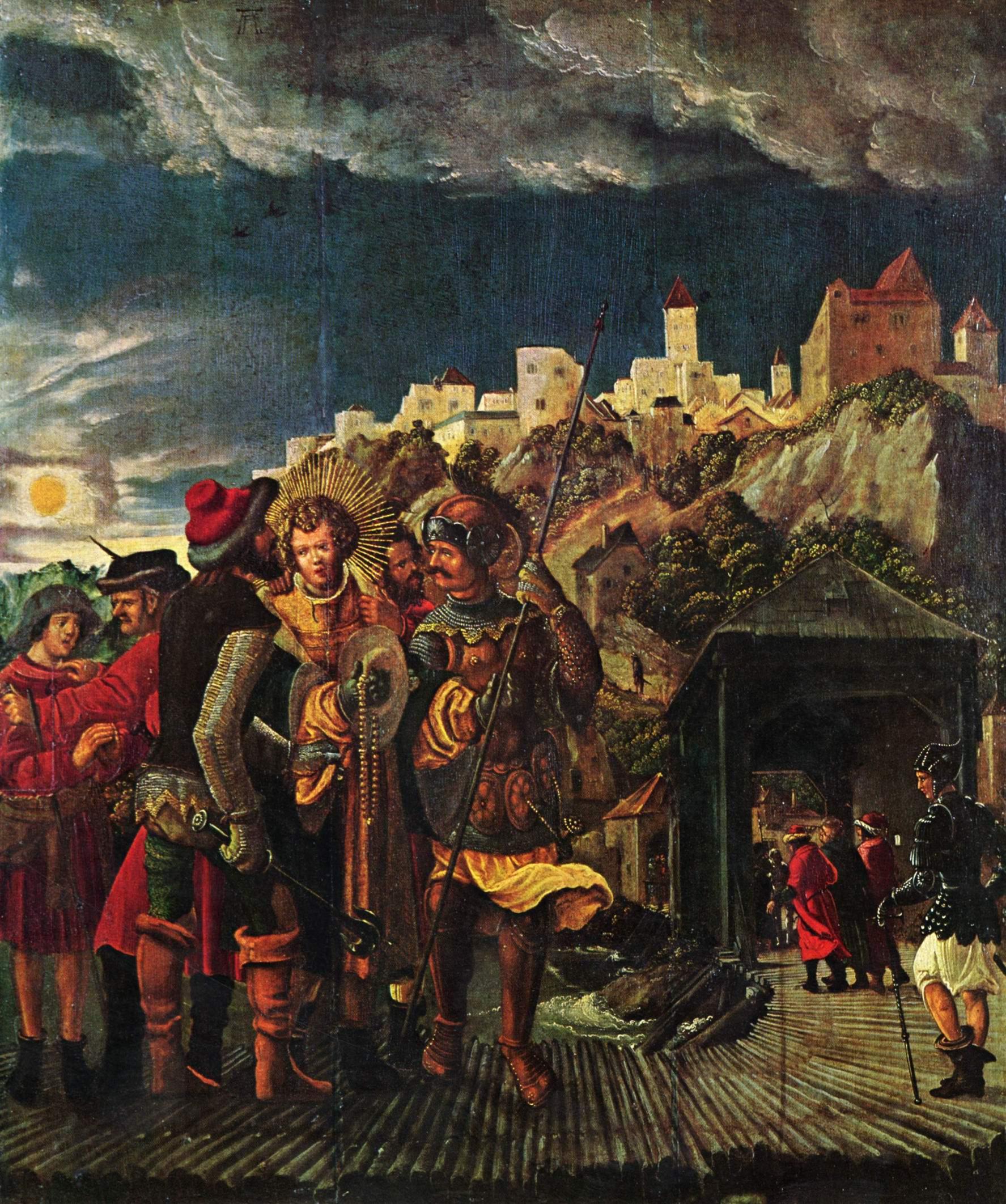 Житие св. Флориана, сцены из жития св. Флориана, пленение св. Флориана, Альтдорфер Альбрехт