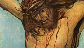 Распятый Христос с Марией и Иоанном, деталь: Христос