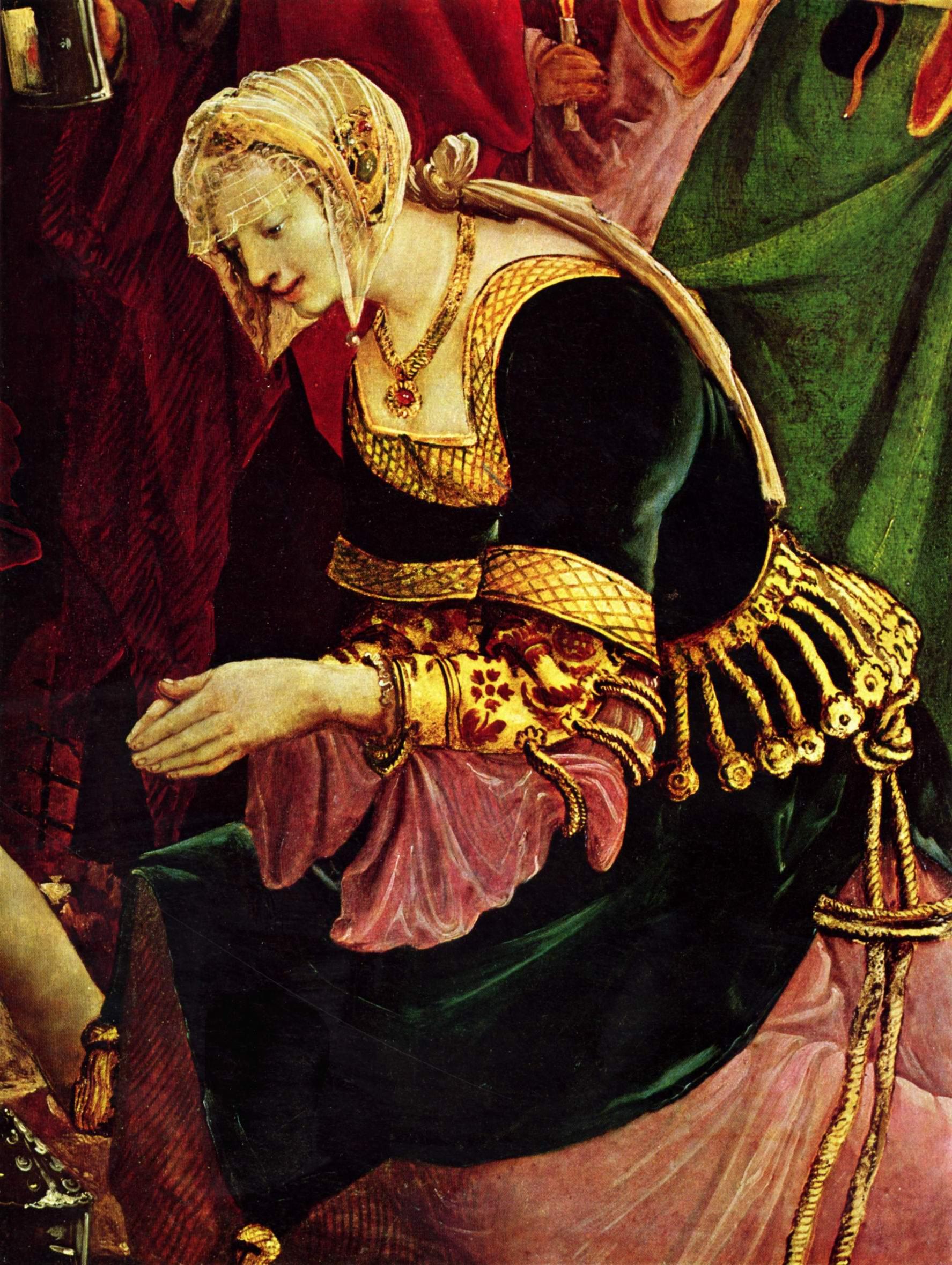 Алтарь св. Себастьяна монастыря св. Флориана, правая внешняя створка, сцена погребения тела св. Себастьяна., Альтдорфер Альбрехт